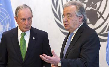 Bloomberg appointed as UN envoy for climate action