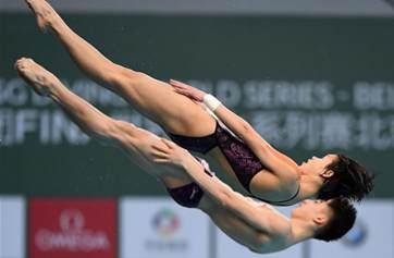 Mixed 10m synchronised final at FINA Diving World Series 2018