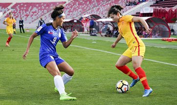 China, Philippines compete at 2018 AFC Women's Asian Cup in Amman, Jordan