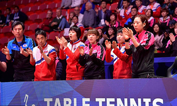 Unified Korean team defeated by Japan at table tennis championships
