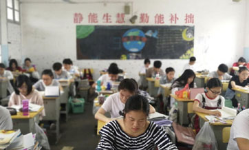 One week until China's make-or-break college entrance exams