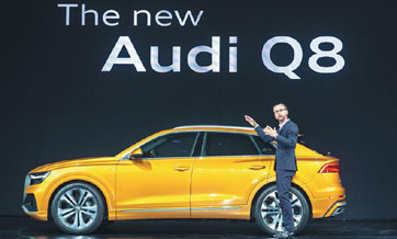 Audi chooses China as the stage for the global debut of its flagship Q8