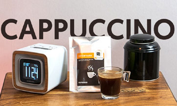 Alarm can wake you up with the smell of coffee, cookies, juice