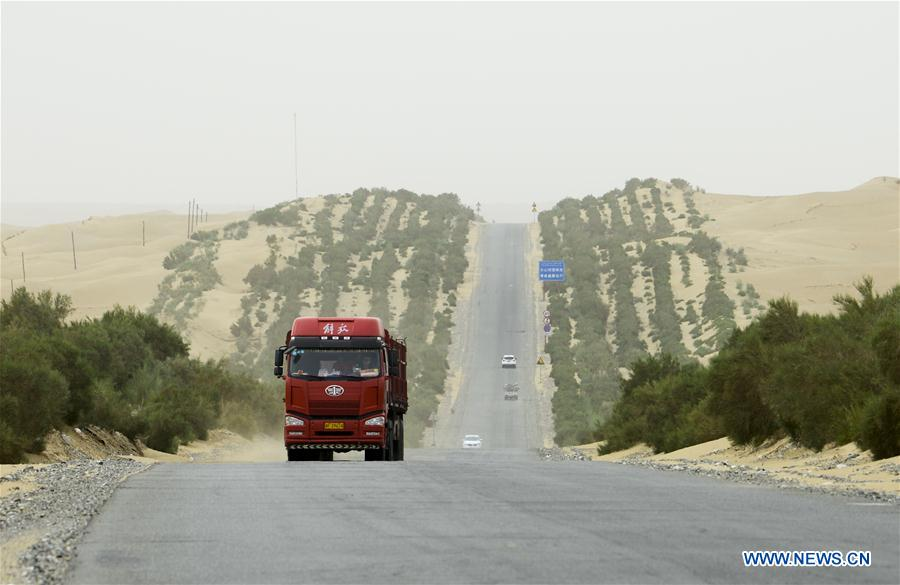 In pics: highways in Taklimakan Desert in China's Xinjiang