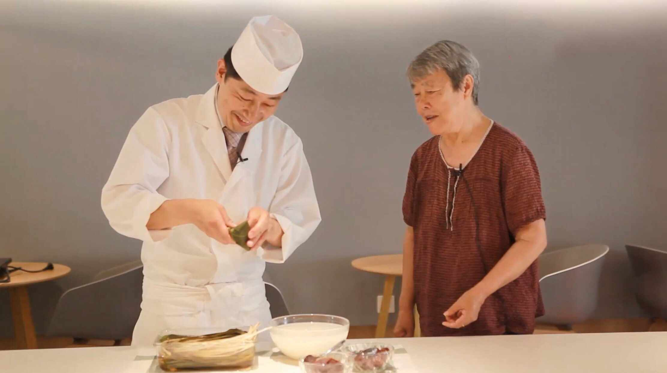 What happens if a Japanese chef who makes rice rolls