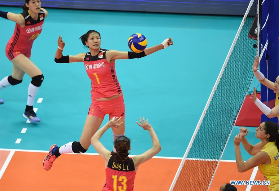 Brazil beats China at FIVB Volleyball Nations League Women ...