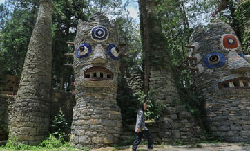 "Artist creates stone castle ""Yelang"" in home province Guizhou"