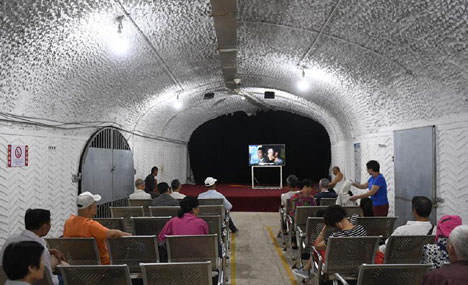Air-raid shelters opened for citizens to shield from heat