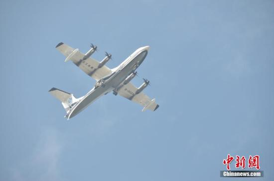 China-made large amphibious aircraft AG600 starts tests on water