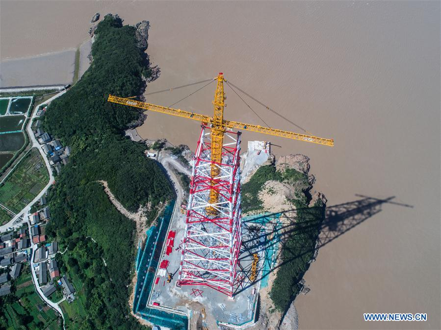 New pylon project between Zhoushan, Ningbo to wrap up by October