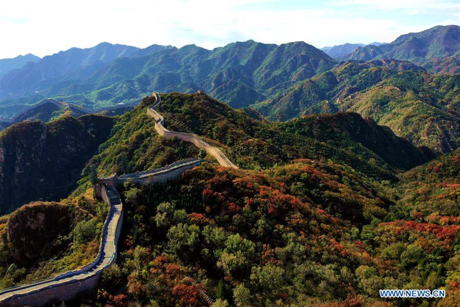 In pics: Badaling red leaf scenic area in Beijing's Great Wall