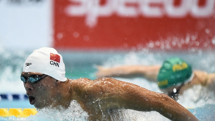 Swimmer Li Zhuhao sets new Chinese record at FINA World Cup