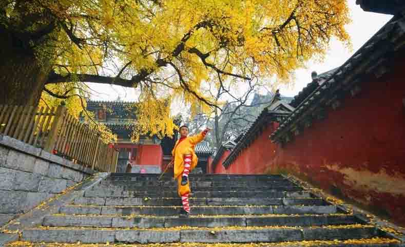 Autumn scenes at the Shaolin Temple