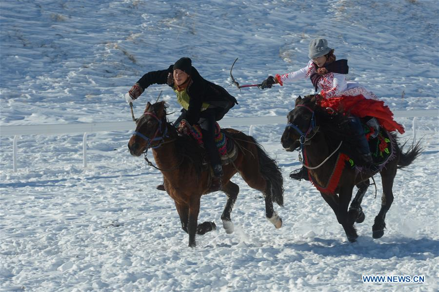 Ice-snow tourism and culture festival held in China's Xinjiang