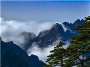 Drifting clouds seen over Huangshan Scenic Area in east China's Anhui