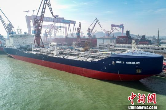 The LNG tanker Boris Sokolov on Tuesday, December 4, 2018 in Guangzhou. [Photo: VCG]
