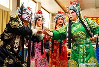 Actors of Jin opera troupe in China's Hebei