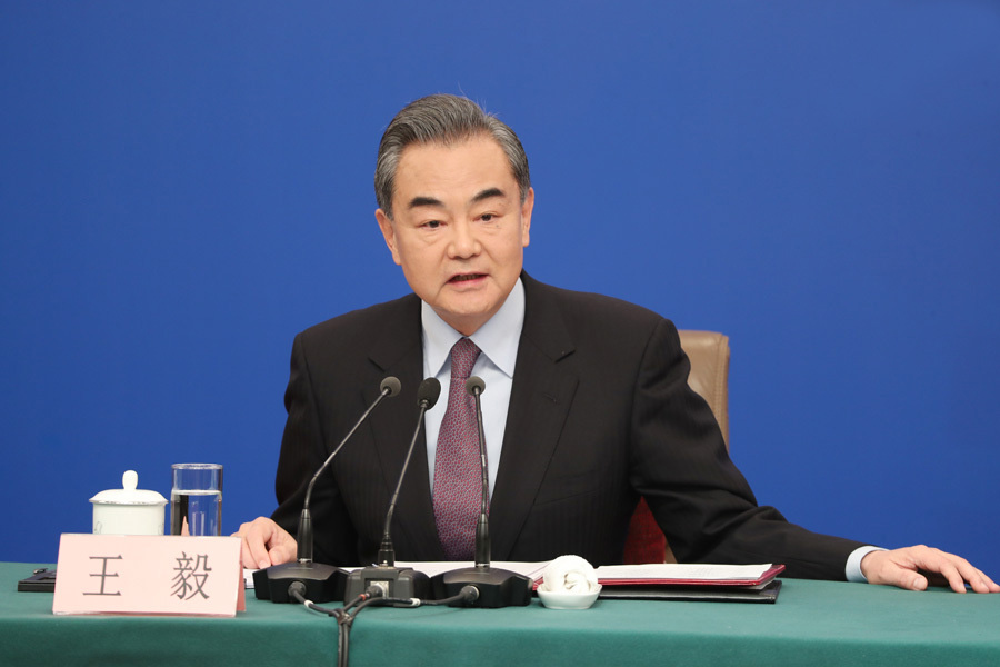 Highlights of Chinese foreign minister's press conference