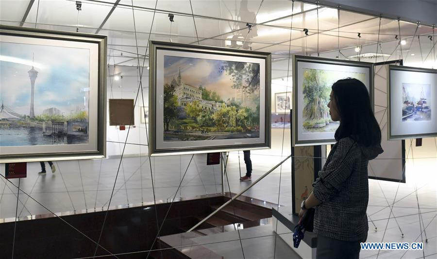 Art exhibition held to mark 20th anniversary of establishment of Macao SAR