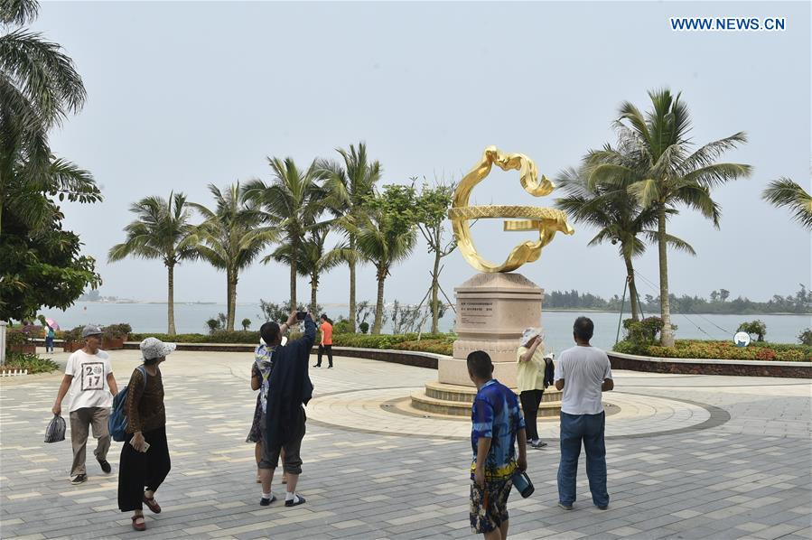 Scenery of permanent site of Boao Forum for Asia in China's Hainan