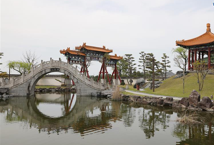 Encho-en garden, one of biggest full-scaled Chinese-style garden in Japan