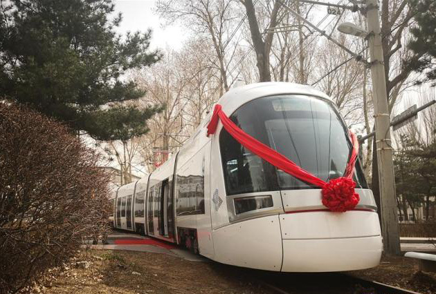 First train made in China for Tel Aviv light rail rolls off the line