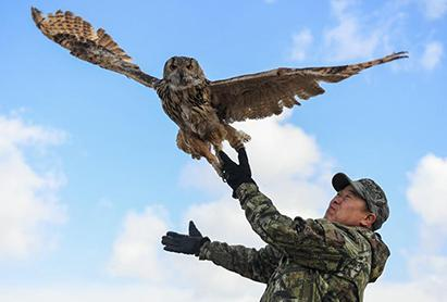 Wildlife protector in China's Inner Mongolia Autonomous Region