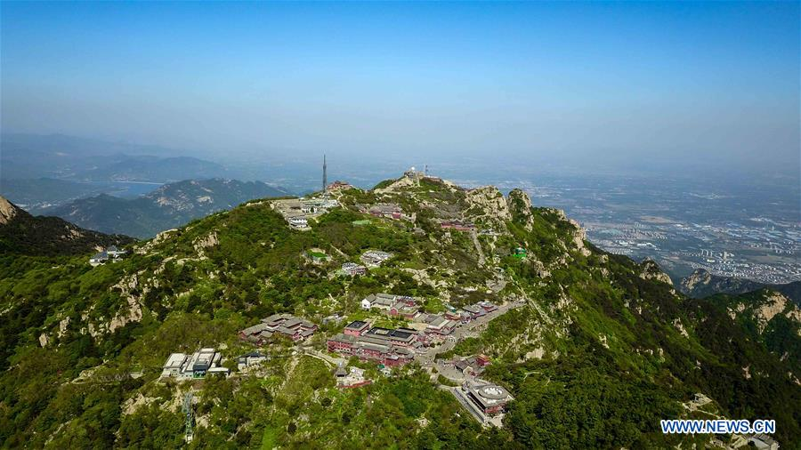 Scenery of Taishan Mountain in China's Shandong