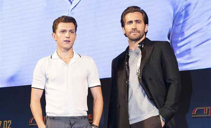 "Tom Holland attends press conference of ""Spider-Man: Far From Home"""