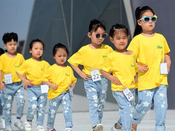 Model final contest for children held in Changchun, NE China's Jilin