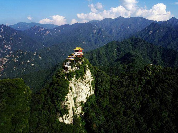 Scenery of South Wutai Mountain in NW China's Shaanxi