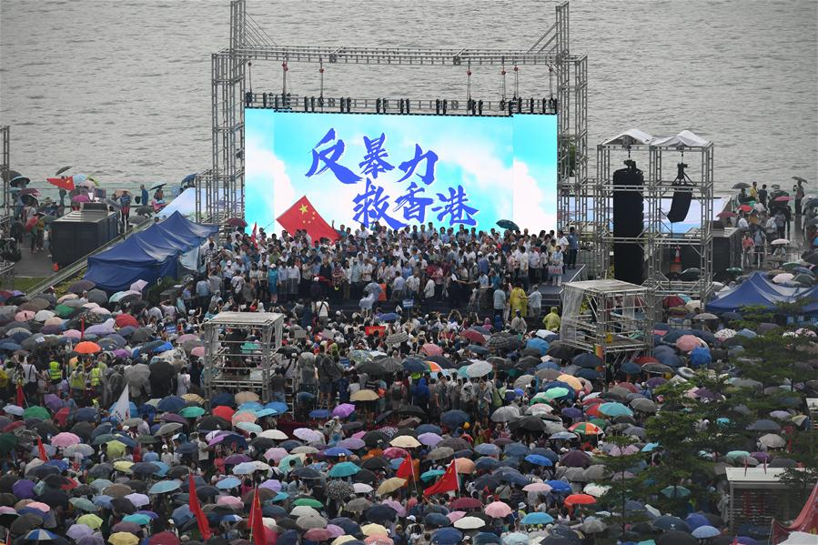 "Aerial footage: 470,000 attend ""Oppose Violence, Save Kong Kong"" rally"