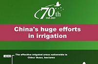 China's huge efforts in irrigation