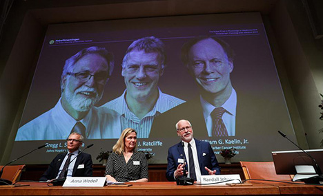 Three scientists share 2019 Nobel Prize in Physiology or Medicine