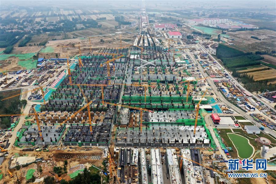 Xiongan Station's underground major structure to be completed
