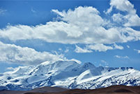 Scenery of Xiagangjiang snow mountain in China's Tibet