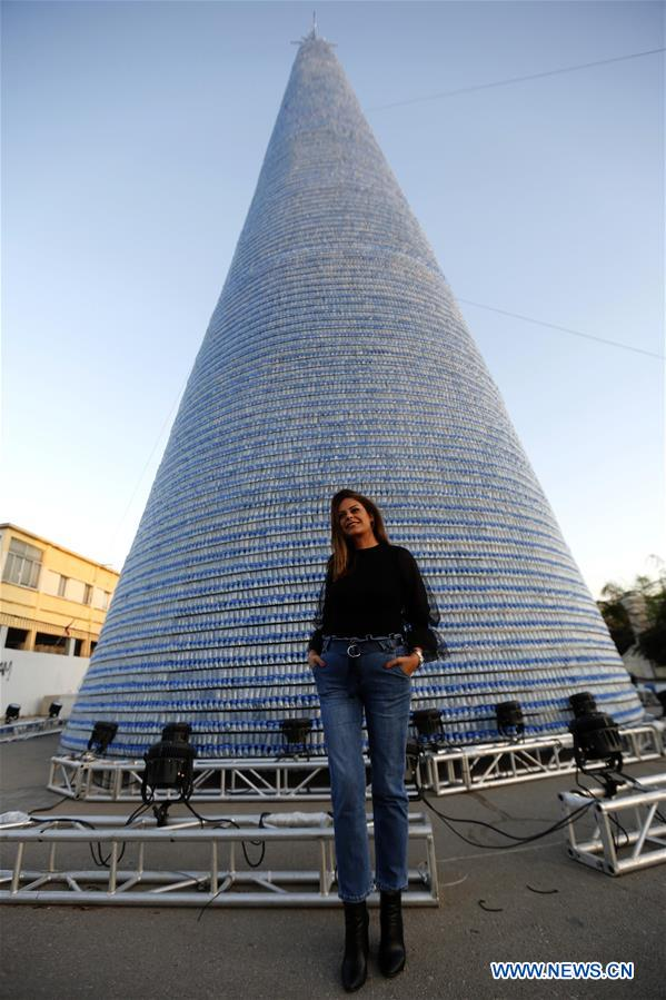 Lebanon expects new Guinness World Record for biggest plastic bottles Christmas tree