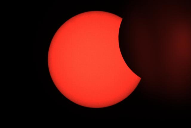 Spectacular photographs shot of partial solar eclipse in China