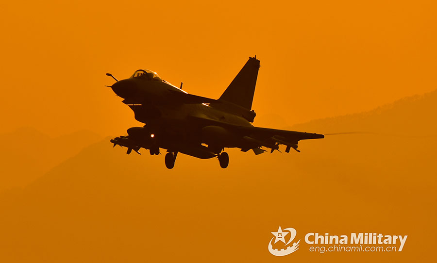 J-10 fighter jets soar into the air