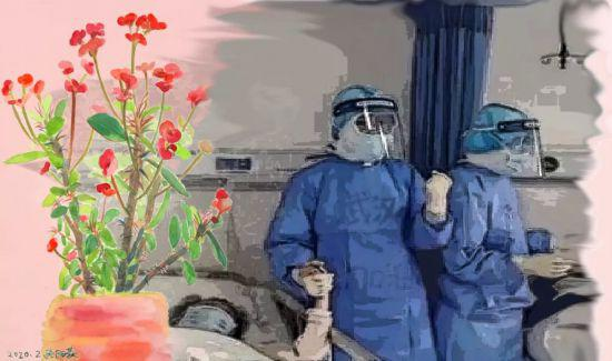 Students pay tribute to coronavirus frontline workers with art works