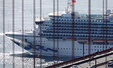 Coronavirus-stricken Grand Princess docks at Oakland Port, California