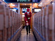 In pics: A train conductor at work during epidemic