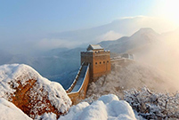 Jinshanling Great Wall: A fairyland after spring snow