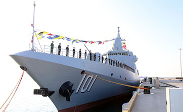 China reveals large destroyer's replenishment training for 1st time