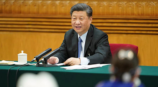 "Xi stresses ""people first"" on first day of annual legislative session"