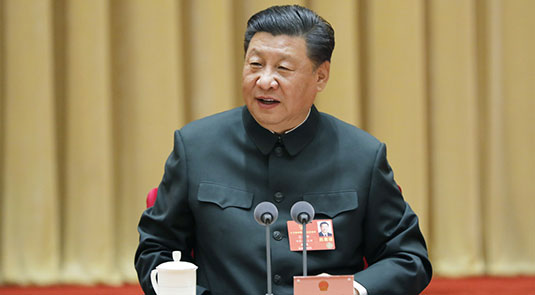 Xi emphasizes strengthening national defense, armed forces