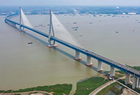 Road-rail cable-stayed bridge with world's longest span opens
