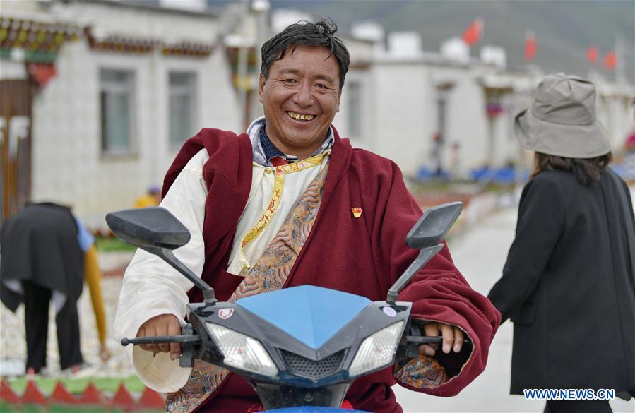 Relocation for poverty-relief purposes helps boost rural revitalization in China's Tibet