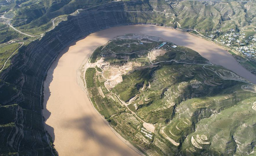 Scenery of Yellow River in Shaanxi