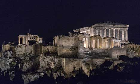 Athens' Acropolis hill gets new lighting system